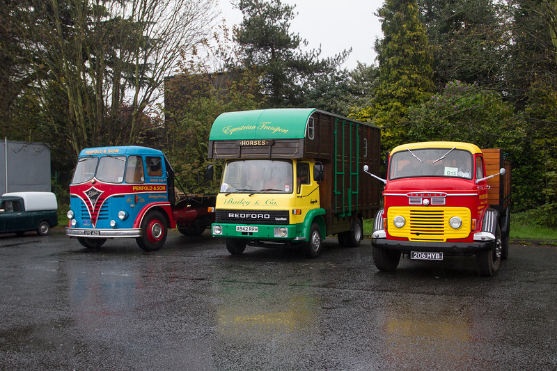1959 Foden S20 Flatbed Lorry / 1984 Bedford TL Horsebox / 1960 Commer QX Lorry