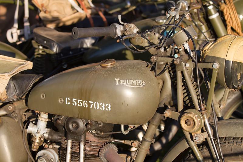 British Army Triumph Motorbike