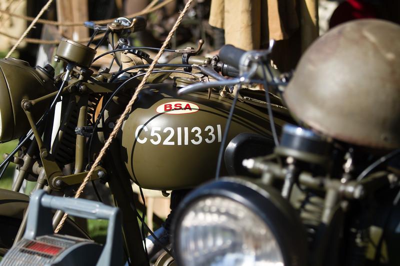 British Army BSA Motorbike
