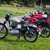 Line of Royal Enfield Motorbikes