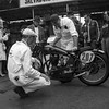 Mechanics working on a 1938 Rudge Special