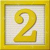 3d yellow number block 2