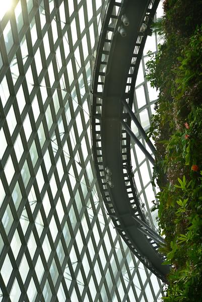 Skywalks inside the domes