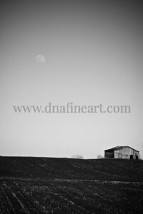 Moon and Barn