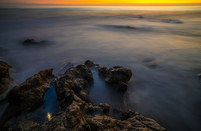 Malibu Fine Art Sea Cave Sunset Seascape!  45Epic Dr. Elliot McGucken Fine Landscape and Nature Photography