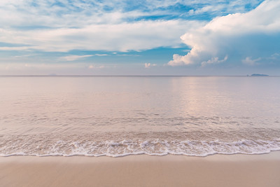 Tropical beach with beautiful clouds in Rayong, Thailand