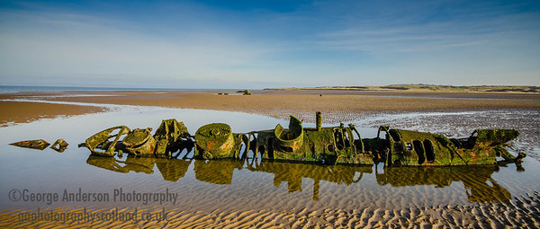 X-Craft remains WW2 Aberlady Bay East Lothian Scotland 2