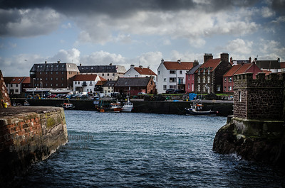 Entering Dunbar Harbour East Lothian Scotland