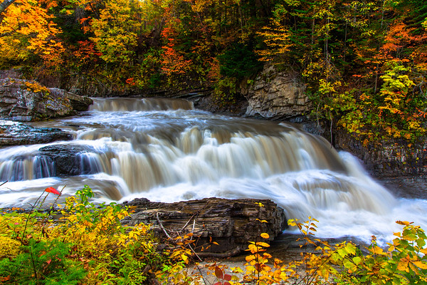 Flowing Water in Autumn, Hokkaido, Japan
