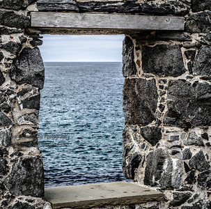 Window to the sea Northeast Scotland