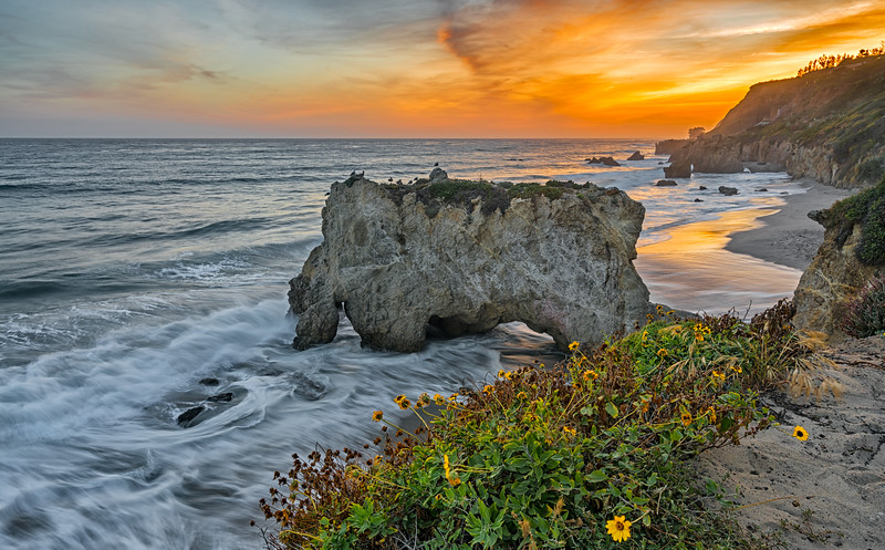 sunset over El Matador state beach