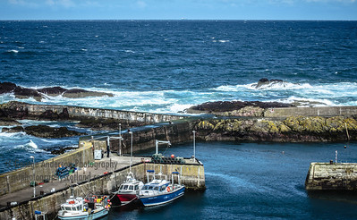 St Abbs Harbour Southeast Scotland