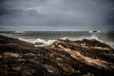 Wild and Windy East Lothian Scotland