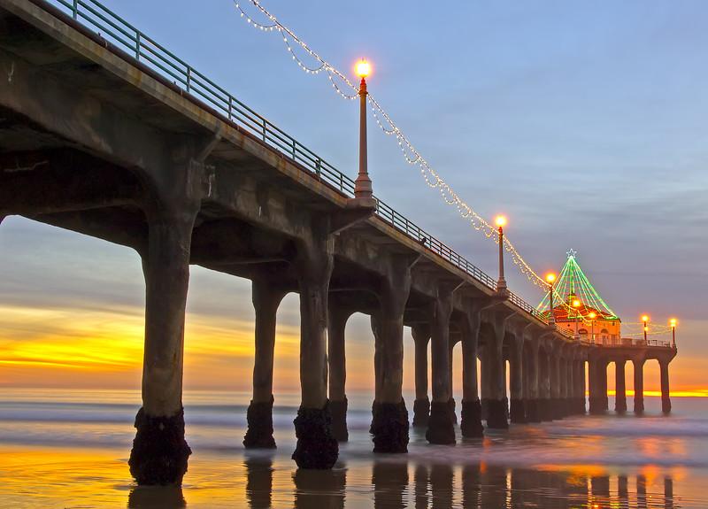 Christmas pier