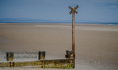 Findhorn Beach Northeast Scotland