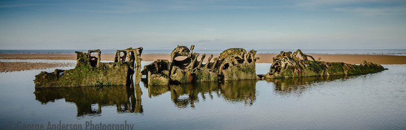 X-Craft remains WW2 Aberlady Bay East Lothian Scotland