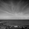 Cove B&W Sky<br /> Scottish coastline
