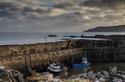 Cove Harbour Creel Boats Southeast Scotland