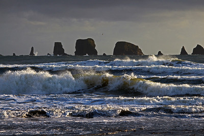 Sea Stacks on a stormy day off the Washington Coast