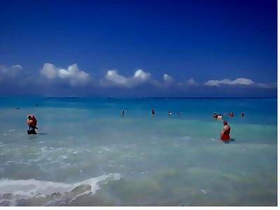 """Ocean Figures"" (mixed media/digital) by Vesa Peltonen"