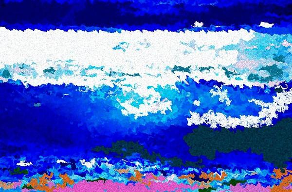 """""""Ocean Wave and Current"""" (mixed media/digital) by Vesa Peltonen"""