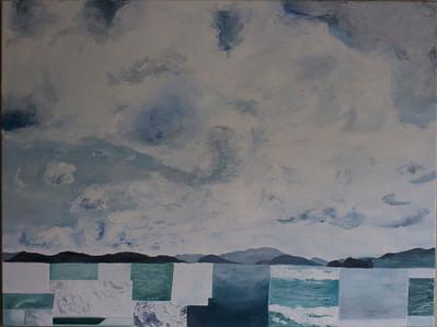 """""""Beyond Blue"""" (oil) by Stephanie Grant"""