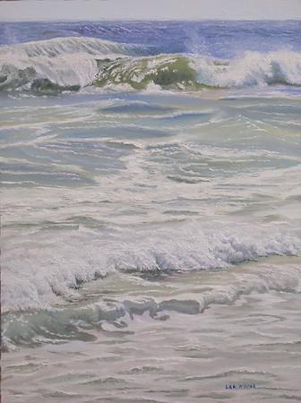 """Beach Lace"" (oil) by Lea Novak"