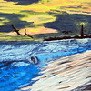 """STORMY SUNSET"" (acrylic) by Donna Harp"
