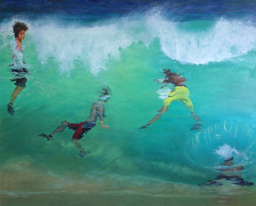 """All In"" (oil on canvas) by Janey Fritsche"