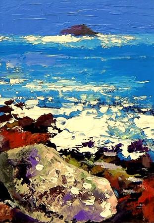"""""""ailsa craig"""" (acrylic) by Allan Coyle"""
