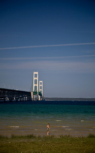 Mackinac Bridge from Mackinaw City, Michigan