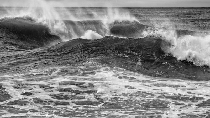 Tropical Storm Andrea passing Beavertail, Jamestown, Rhode Island