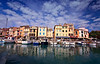 The colorful waterfront at Cassis, France.