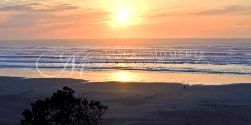 Agate Beach Sunset Pano