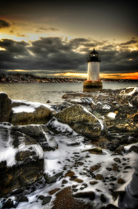 """Wintery Fort Pickering Light"" January 22nd. 2012 Salem, MA"