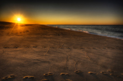 """""""A Provincetown Sunset"""" Racepoint February 5th, 2012"""