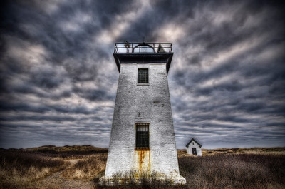 """""""Wood End Before the Storm"""" March 17th, 2012 Provincetown Harbor, MA"""