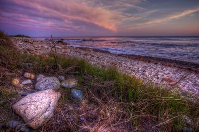 """Pink & Purple Far Left of Sunset"" Gooseberry Island Westport, MA May 19th, 2012"