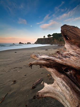 Lunar Dawn - California Coastline