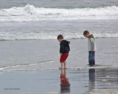 The water might be chilly, but these boys don't mind.