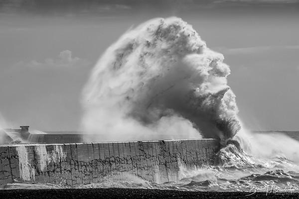 Einstein - sculptured by the sea.