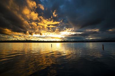 yin and yang of sunset