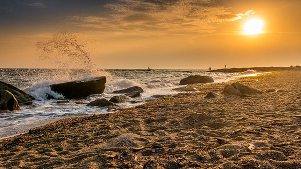 Crashing Wave Sunset