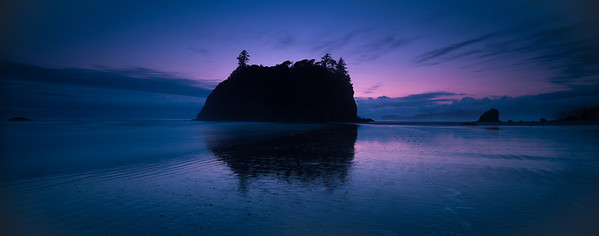 Ruby Beach sunset panorama