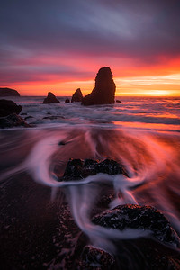 Blazing Susnet on Rodeo Beach