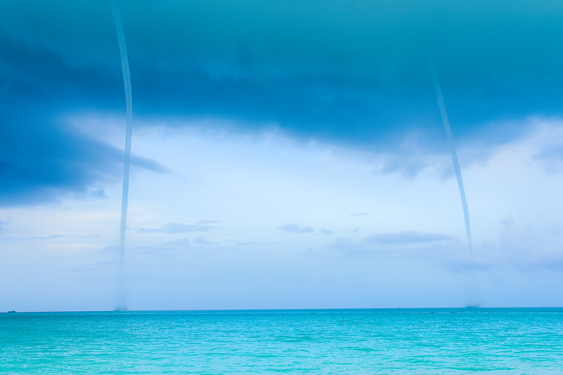 Water Spouts in Exuma Bahamas