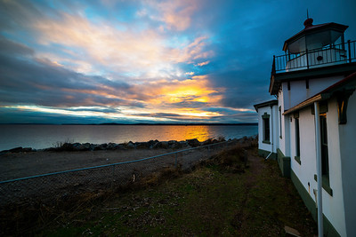 Sunset at the West Point Lighthouse