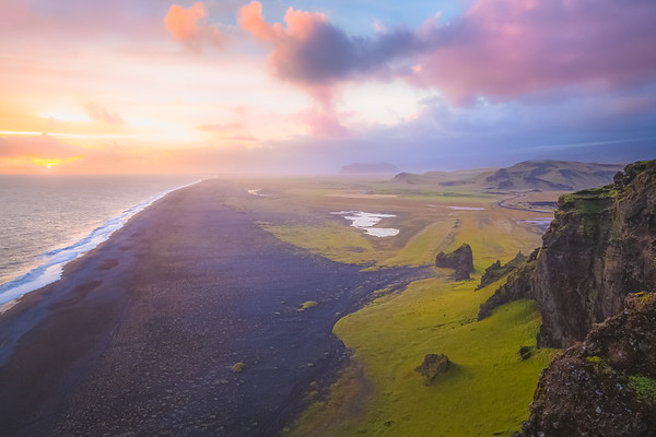 View From Atop Dyrholaey. Southern Iceland