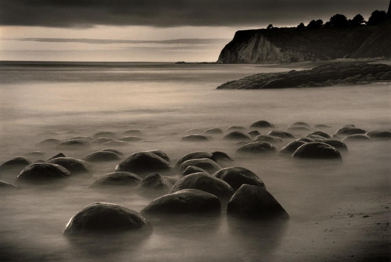 Sunset, Bowling Ball Beach, Mendocino Coast, California