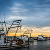 Shrimpers in a Line  Sunrise